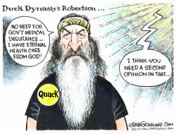 Duck Dynasty and Gov't health care by Dave Granlund