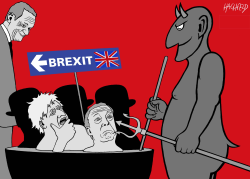 Brexiteers In Hell by Rainer Hachfeld