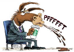 Howard Schultz and Democrats by Daryl Cagle