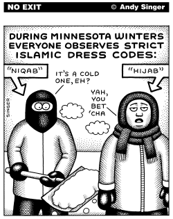 Minnesota Islamic Dress Code by Andy Singer