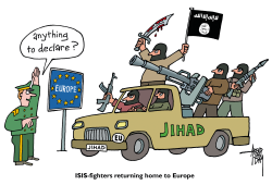 returning ISISfighters by Arend Van Dam