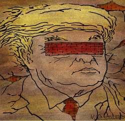 The wall of Trump by Vladimir Kazanevsky