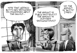 CANADA Trudeau's Top Advisor Butts Out by Dave Whamond