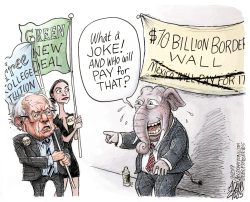 Bernie and AOC by Adam Zyglis