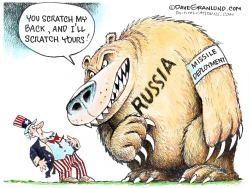 Russia nuke missle threat by Dave Granlund