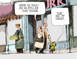 Apple for the Teacher by Bill Schorr