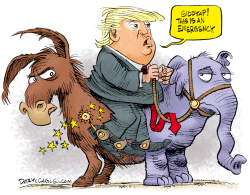 Trump Emergency Ride by Daryl Cagle