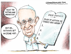 Pope action on clergy sex abuse by Dave Granlund
