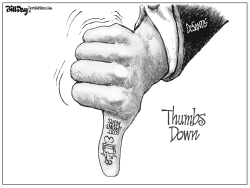DeSantis Thumbs Down FLORIDA by Bill Day
