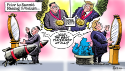 Trump-Kim Nobel prize by Paresh Nath
