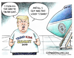Trump and Kim 2019 Summit flop by Dave Granlund