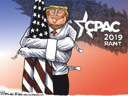 Trump CPAC Rant by Kevin Siers
