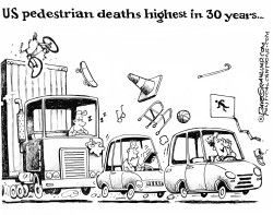 Pedestrian deaths higher by Dave Granlund