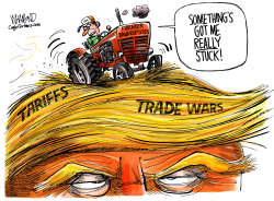 Farmers in deep Trump by Dave Whamond