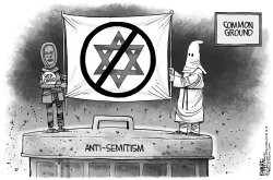 Omar Anti Semitism by Rick McKee