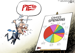 LOCAL OH DeWine Budget by Nate Beeler