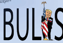 Trump flag hugging and cursing by Jeff Darcy