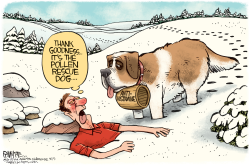 Pollen Rescue Dog by Rick McKee