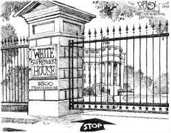 White supremacist house by John Darkow