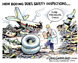 Boeing safety inspections by Dave Granlund