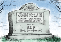 McCain/Trump by Joe Heller
