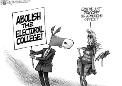 Dems and Electoral College by Nate Beeler