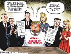 Trump and College Free Speech by Kevin Siers