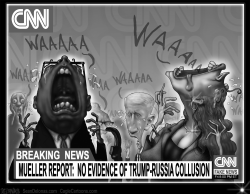 Mueller Report and CNN by Sean Delonas