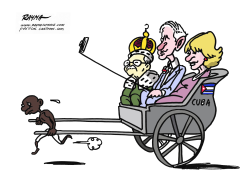 Prince Charles and Camilla in Cuba by Rayma Suprani