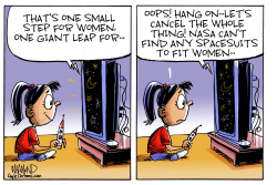 One small step for women by Dave Whamond
