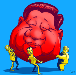 Xi Jinping meeting by Hajo de Reijger