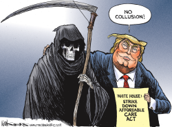 Trump Attack on ACA by Kevin Siers