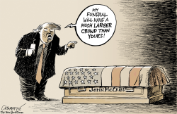 Trump's McCain obsession by Patrick Chappatte
