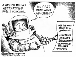 Antivax kids and school by Dave Granlund