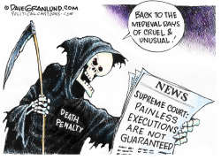 Death penalty and pain by Dave Granlund