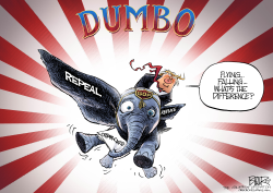 Dumbo Trump by Nate Beeler