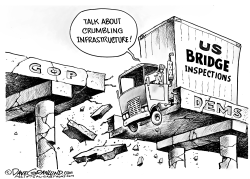 Failing US bridges by Dave Granlund