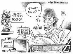 Mick Jagger heart surgery by Dave Granlund