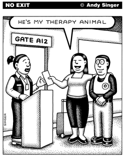 Hes My Therapy Animal by Andy Singer