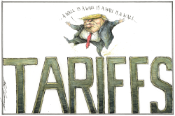 Trumps Tariff Wall by Dale Cummings