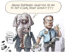 Domestic violence bill by Adam Zyglis