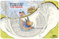 Russian Collusion Hole by Rick McKee