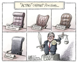 White House vacancies by Adam Zyglis