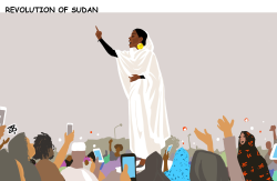 Revolution in Sudan by Emad Hajjaj
