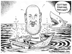 Assange sinking feeling by Dave Granlund