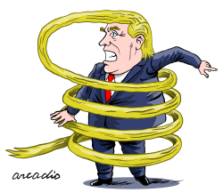 The complicated policies of Trump by Arcadio Esquivel