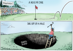 Tiger Woods by Joe Heller