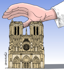 Paris and the world are sad by Arcadio Esquivel