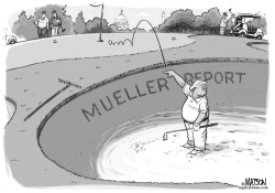 Trump Golf Cheat Mueller Report by RJ Matson