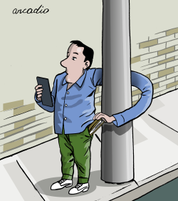 Cell Phone Self Robbery by Arcadio Esquivel